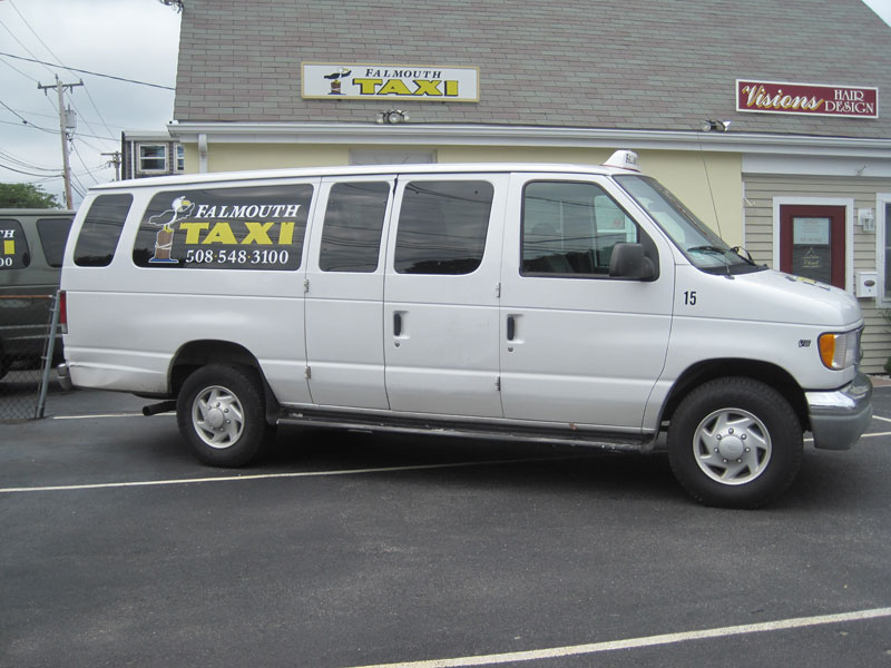 Falmouth Taxi 6 passenger van for local and long distance service